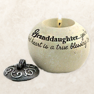 Granddaughter You're A Special Gift, Round Tealight Holder   -