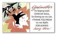 Godmother, For Keeping Watch Glass Plaque  -