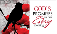 God's Promises Are New Every Morning Glass Plaque  -