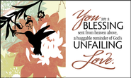 You are a Blessing Glass Plaque  -