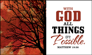 With God All Things are Possible Glass Plaque  -