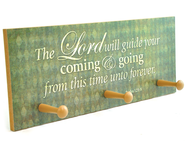 The Lord Will Guide Your Coming & Going Triple Hook Plaque  -