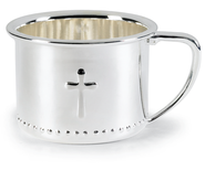 Cross Baby Cup, Silver-plate  -