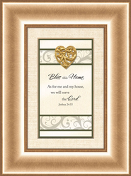 Heart Prints, Bless This Home, Framed Print  -