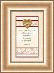 Heart Prints, Psalm 19:14, Framed Print  -