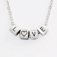 Mini Block Pendant, Love  -