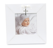 Cross Charm Photo Frame, White  -