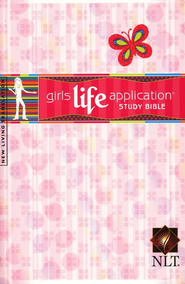NLT Girls Life Application Bible - Softcover  -