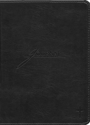 Handy Size Leather-look Journal, Black   -