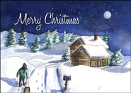 Christmas Cabin Christmas Cards, Pack of 5  -