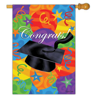 Congrats! Graduation Flag, Large  -