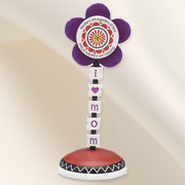 Groovy Garden Mom Flower Finial  -