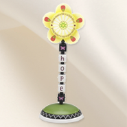 Groovy Garden, Hope Flower Finial  -