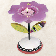 Groovy Garden, Believe Flower Tea Light Holder  -