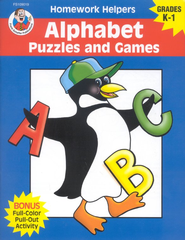 Alphabet Puzzles and Games (K-1) Homework Helper   -