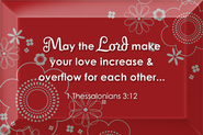 May the Lord Make Your Love Increase Plaque  -