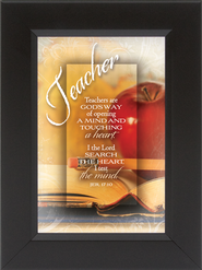 Teachers Are god's Way of Opening a Mind Framed Print  -