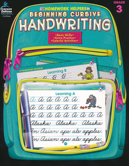 Beginning Cursive Handwriting (3) Homework Helper   -