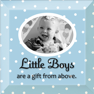 Little Boys are a Gift From God Photo Frame  -