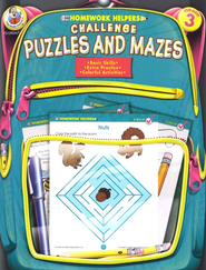 Challenge Puzzles and Mazes Homework Helper, Grade 3   -
