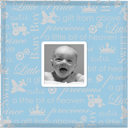 Precious Baby Photo Frame, Blue  -