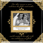 United in Marriage Photo Frame to Personalize  -