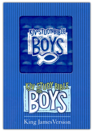 KJV Study Bible for Boys, Duravella, blue prism  -