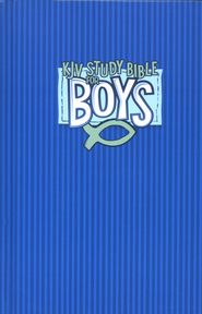 KJV Study Bible for Boys, Hardcover, blue  -