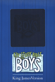 KJV Study Bible for Boys, Duravella, blue  -