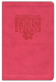 KJV Study Bible for Girls, Duravella, pink  -