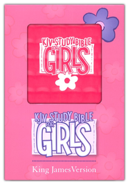 KJV Study Bible for Girls Pink, Duravella, pink prism  -