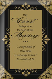 May Christ Always be at the Heart of this Marriage Plaque  -