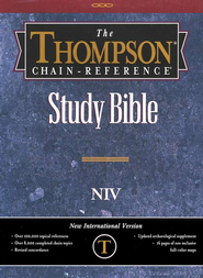 NIV Thompson Chain-Reference Bible, Burgundy  Bonded Leather 1984  -