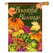 Bountiful Blessings Flag, Large  -              By: Barb Tourtillote