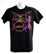 Solid Rock Drums Shirt, Black, Small  -