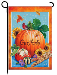 Give Thanks Flag, Small  -              By: Geneva
