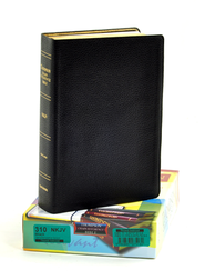 NKJV Thompson Chain-Reference Bible, Black  Genuine Leather, Levant Grain, Thumb Indexed  -