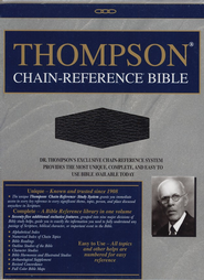 NASB Thompson Chain-Reference Bible, Black  Genuine Leather, Levant Grain (Original NAS)  -