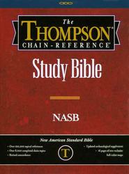 NASB Thompson Chain-Reference Bible, Burgundy  Bonded Leather, Thumb Indexed (Original NAS)  -