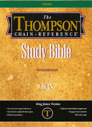 KJV Thompson Chain-Reference Bible, Charcoal Black Kirvella Imitation Leather, Thumb-Indexed  -