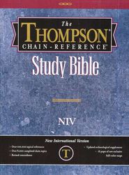 NIV Thompson Chain-Reference Bible, Charcoal Black Kirvella Imitation Leather, Thumb-Indexed 1984  -