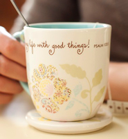 He Fills My Life, Dena Teacup with Lid  -