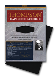 NIV Thompson Chain-Reference Bible, Handy Size, Black Kirvella Imitation Leather, Thumb-Indexed 1984  -