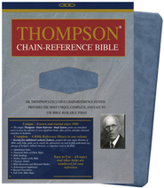 KJV Thompson Chain-Reference Bible, Handy Size, Blue Kirvella Imitation Leather  -