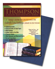 NIV Thompson Chain-Reference Bible, Blue Kirvella Imitation Leather, Thumb-Indexed 1984  -