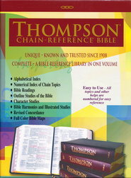 KJV Thompson Chain-Reference Bible, Large Print, Brown Kirvella Imitation Leather, Thumb-Indexed  -