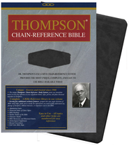 KJV Thompson Chain-Reference Bible, Handy Size, Black Kirvella Imitation Leather  -