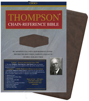 KJV Thompson Chain-Reference Bible, Handy Size, Brown Kirvella Imitation Leather  -