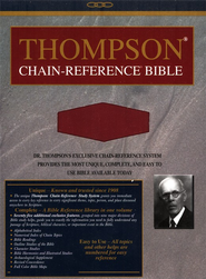 NIV Thompson Chain-Reference Bible, Handy Size, Red Kirvella Imitation Leather 1984  -