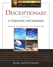 Descriptionary: A Thematic Dictionary  -     By: Marc McCutcheon